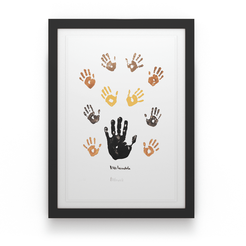 Artist Proof: Coloured Left Hand with Children - House Of Mandela Art