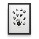Artist Proof: Black & White Left Hand with Children - House Of Mandela Art