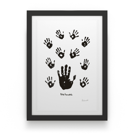 Artist Proof: Black & White Left Hand with Children