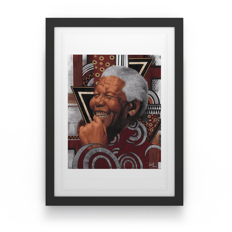 Loyiso  Mkize - A Portrait of a Man II - House Of Mandela Art
