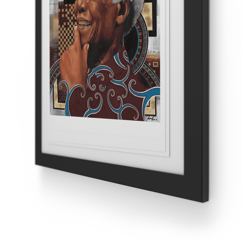 Loyiso  Mkize - A Portrait of a Man III - House Of Mandela Art
