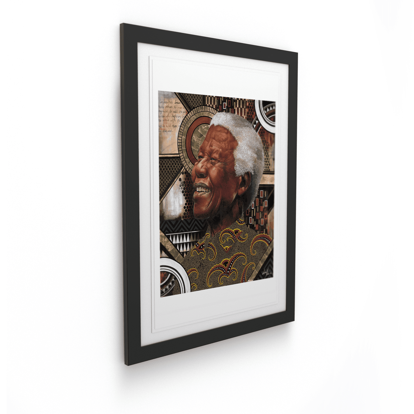 Loyiso Mkize - A Portrait of a Man VI - House Of Mandela Art