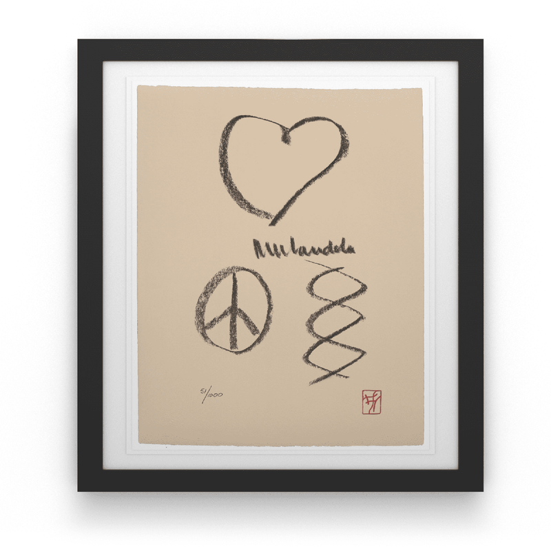 Love, Peace, Harmony - House Of Mandela Art