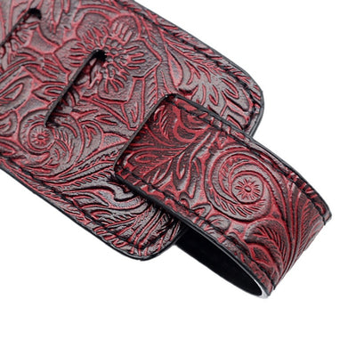 Embossed Leather Guitar Straps | Reptile Scales Pattern