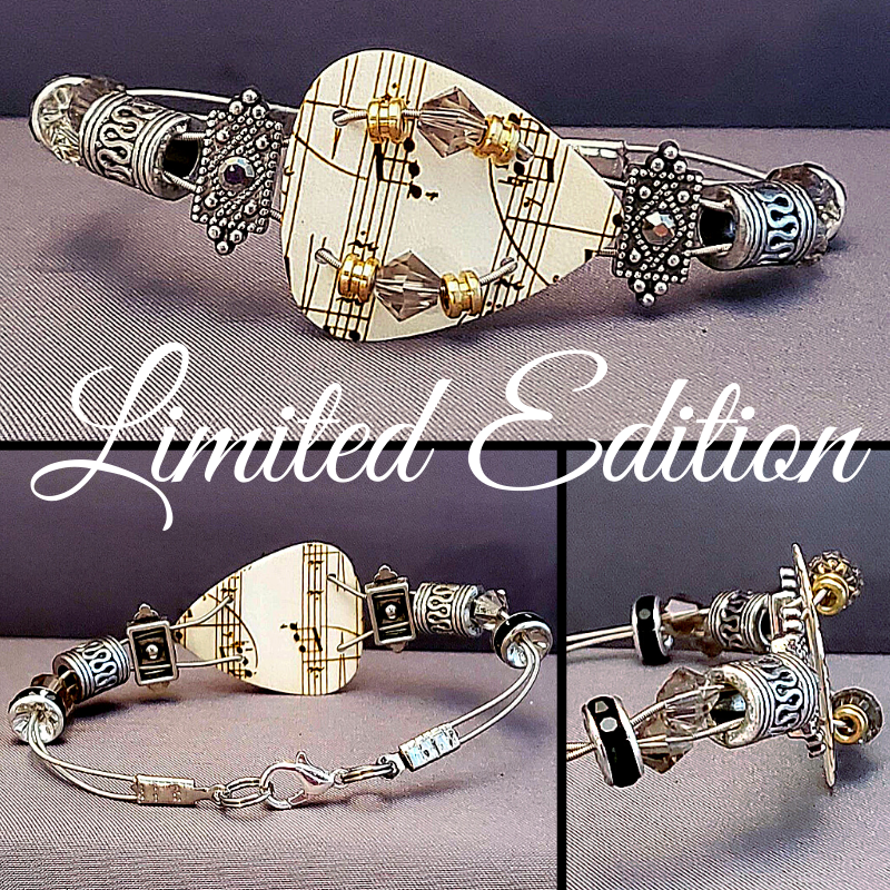 Limited Edition | Simply Music | Swarovski™ Crystal Guitar String Bracelet