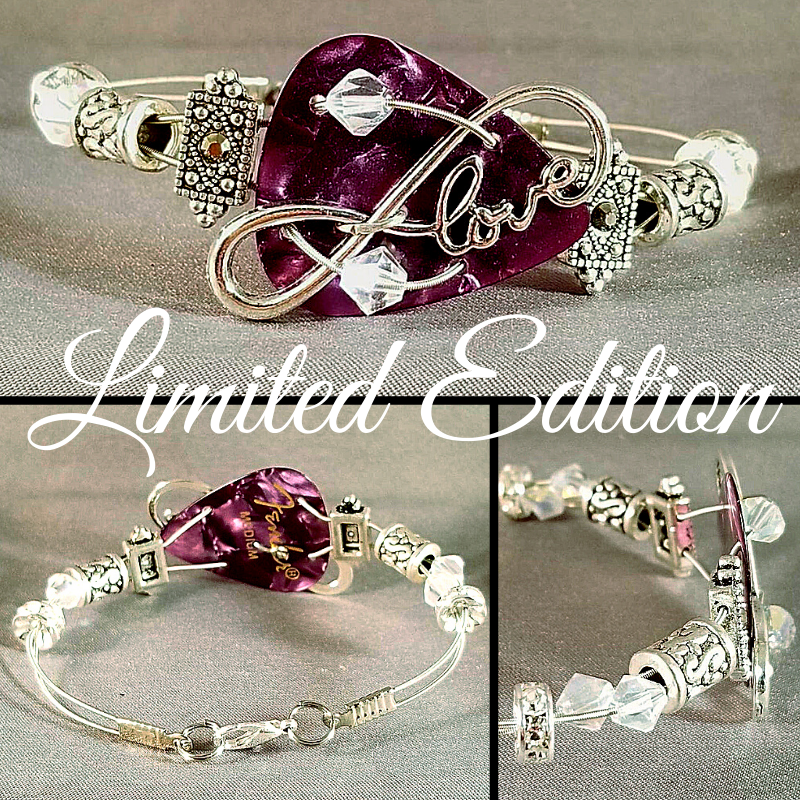 Limited Edition | Infinite Purple Love | Swarovski™ Crystal Guitar String Bracelet