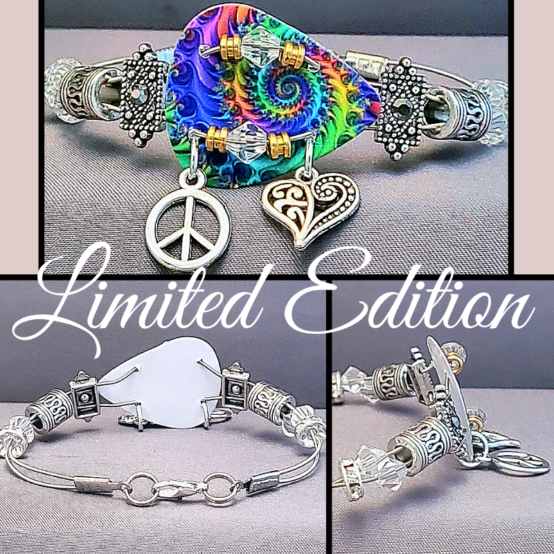 Limited Edition | Tie-dye Peace | Swarovski™ Crystal Guitar String Bracelet