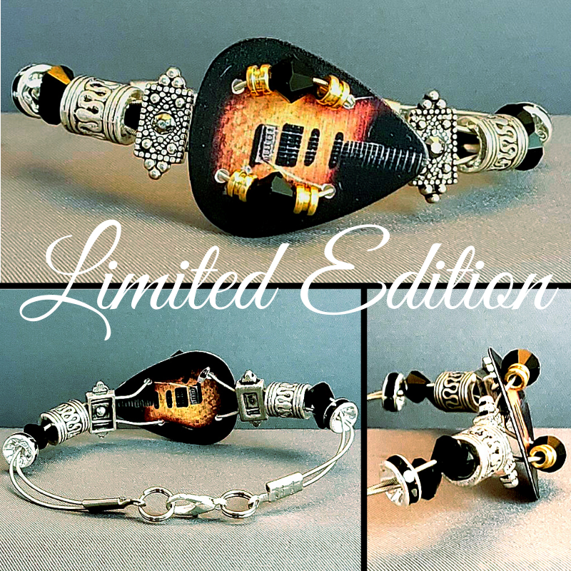 Limited Edition | Electric | Swarovski™ Crystal Guitar String Bracelet