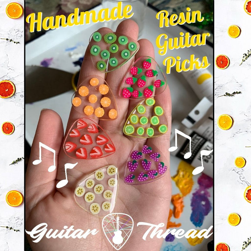 Cute Handmade Resin Fruit Guitar Picks For Guitar Players