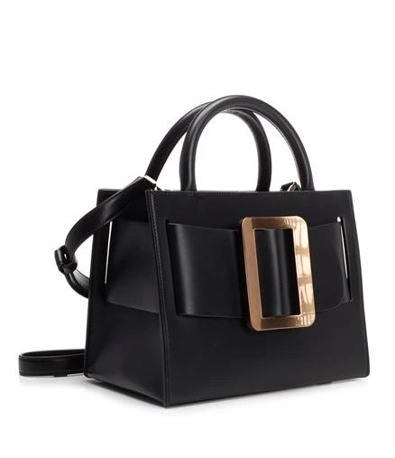 Tati Gold Buckle Handbag - Black