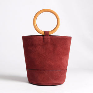 Open image in slideshow, Boho Bucket Bag - Red