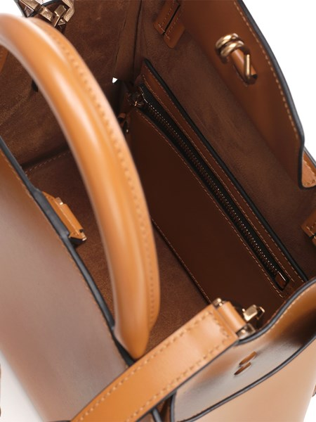 Tati Gold Buckle Handbag - Chocolate