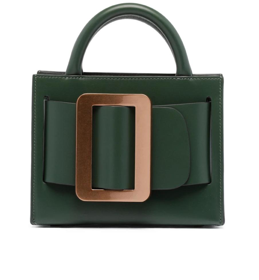 Tati Gold Buckle Handbag - Green