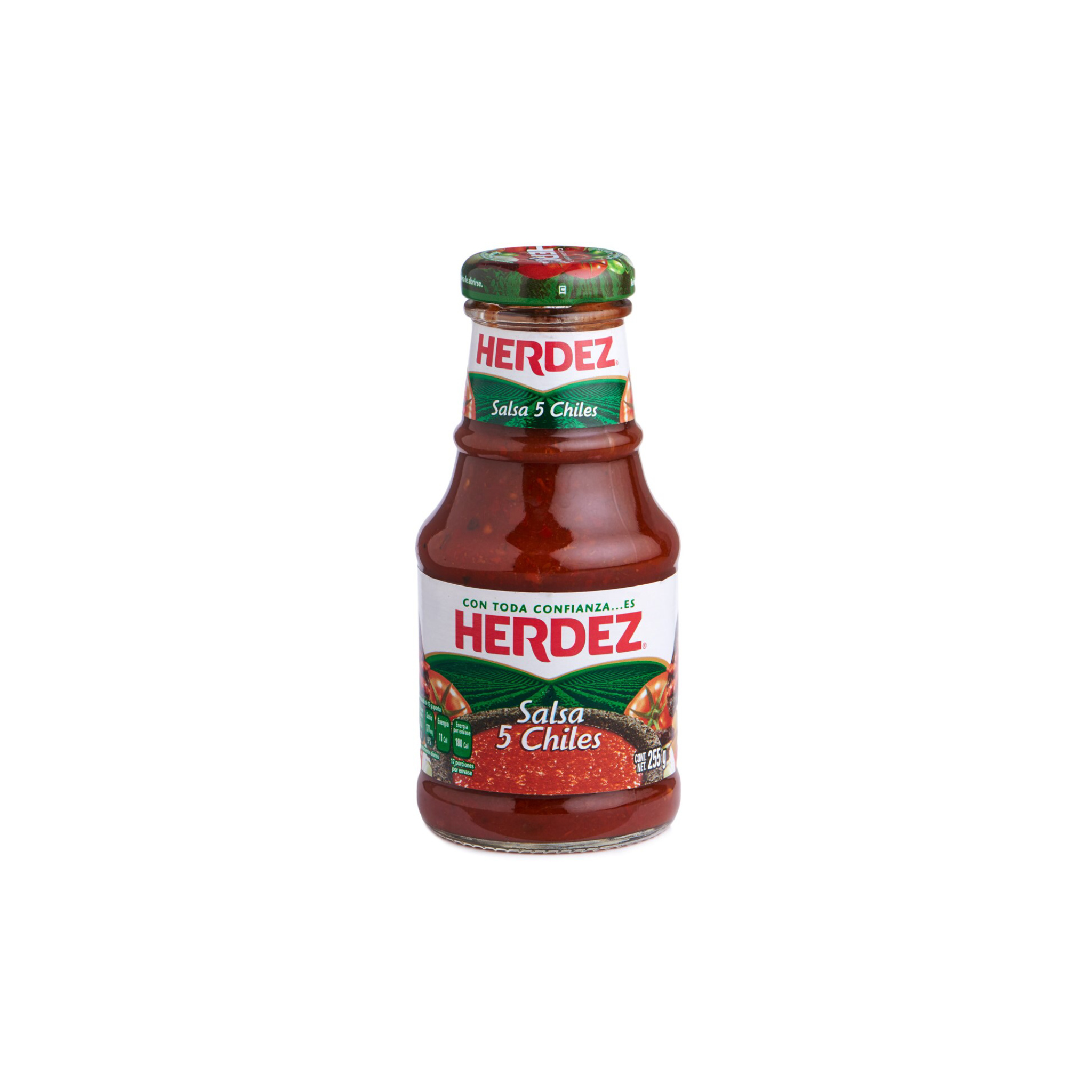 Herdez Salsa 5 Chiles Glass 225g