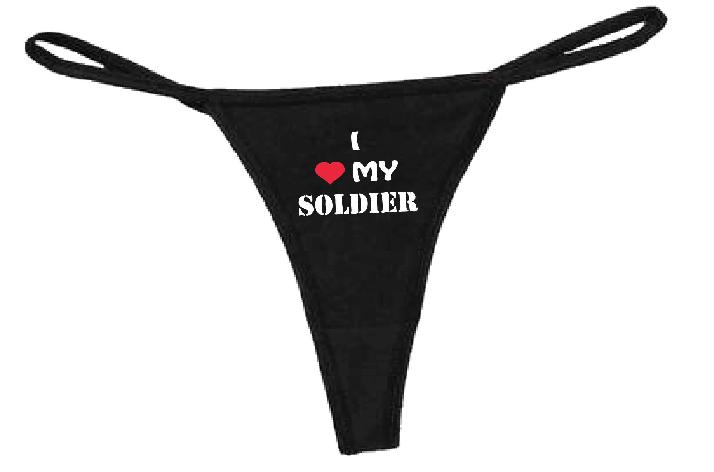 I ❤ My Soldier Thong