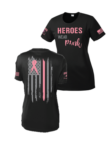 Heroes Wear Pink Scoop Neck Drifit