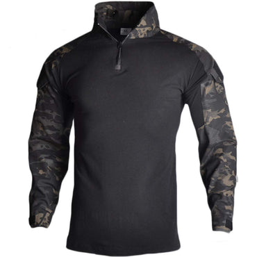 Men's Military Airsoft BDU Shirt Combat Tactical Long Sleeve Shirt
