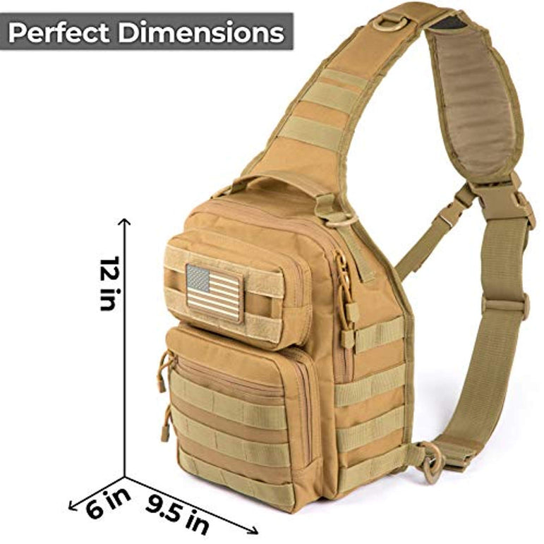 Army Tactical Sling Backpack Molle