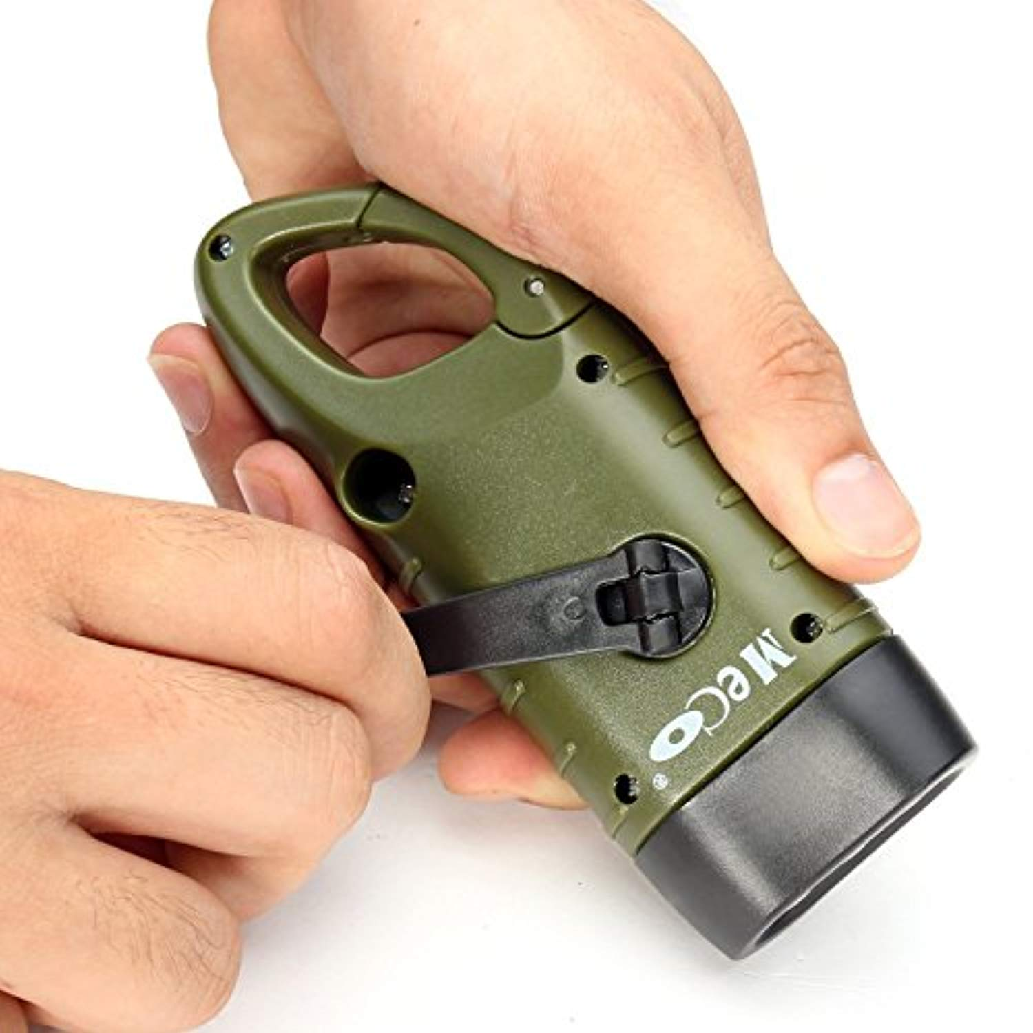 Hand Crank Rechargeable LED Flashlight