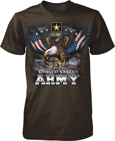 US Army, Since 1775, Eagle with American Flag Wings Men's T-Shirt