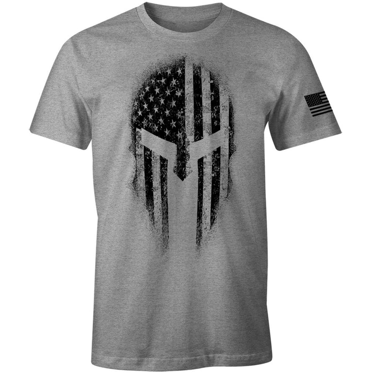 USA American Spartan Molon Labe Patriotic Men's T Shirt