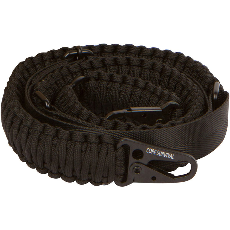 Core Survival Paracord Gun Sling Traditional 2 Point Adjustable Strap for Outdoor Sports