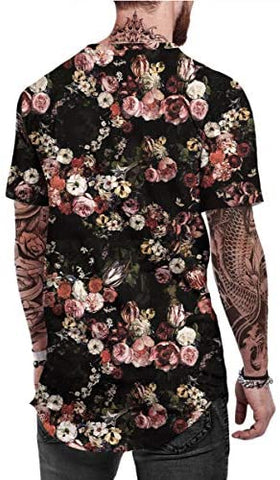 Luxedore Floral Long-Tail Shirt