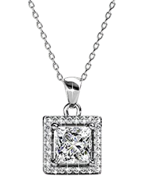 Silver Necklace By Classic Style For Womens