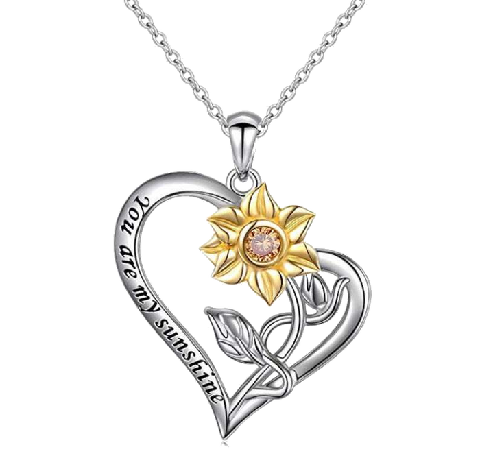 Sterling Silver Sunflower Necklace