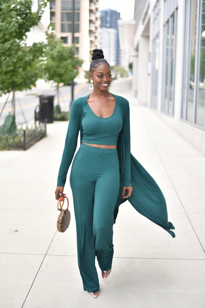 GREEN ENVY 3 PIECES SET
