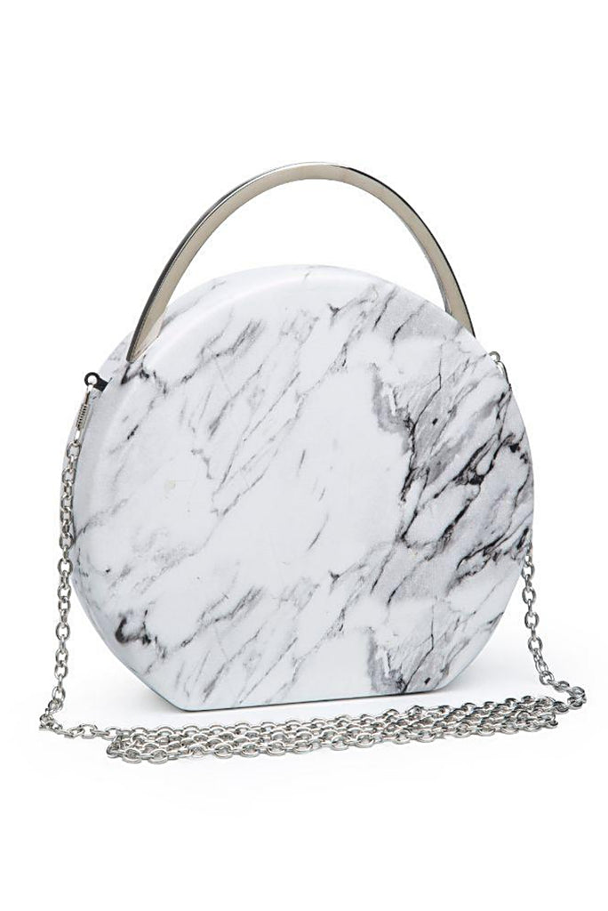 MARBLE ROUND BAG