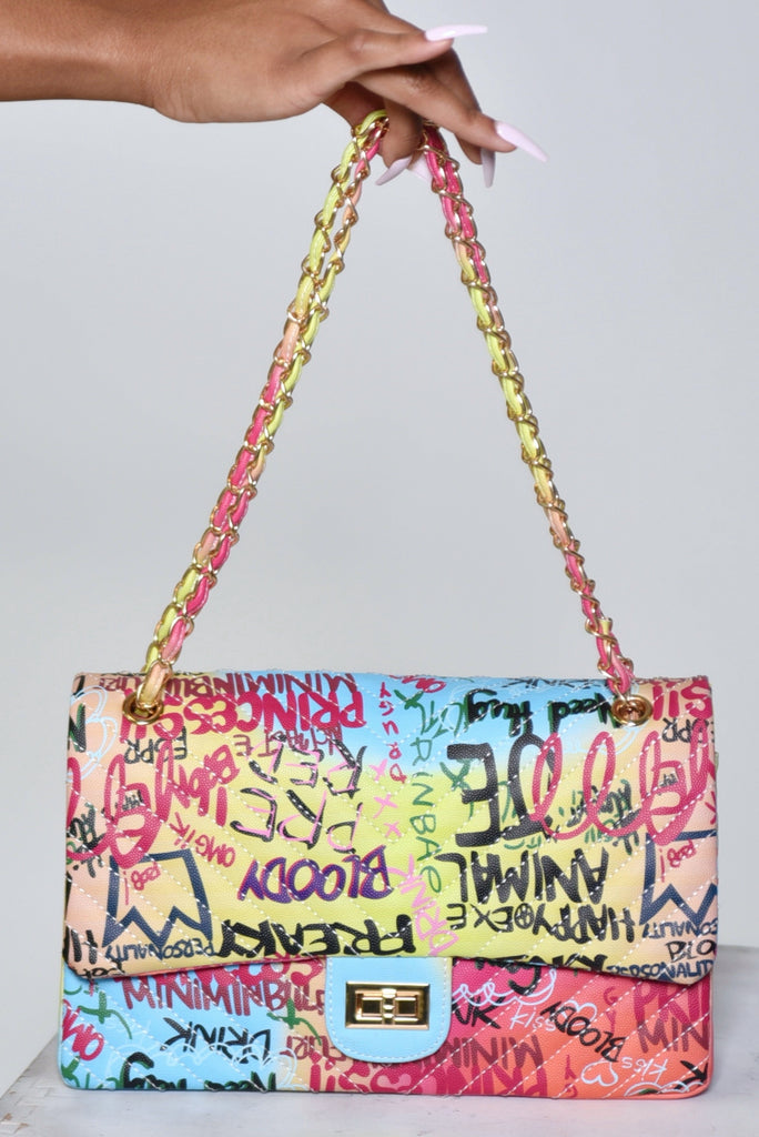 LARGE GRAFFITI PURSE