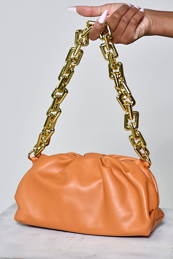 RUST CLOUD HANDBAG