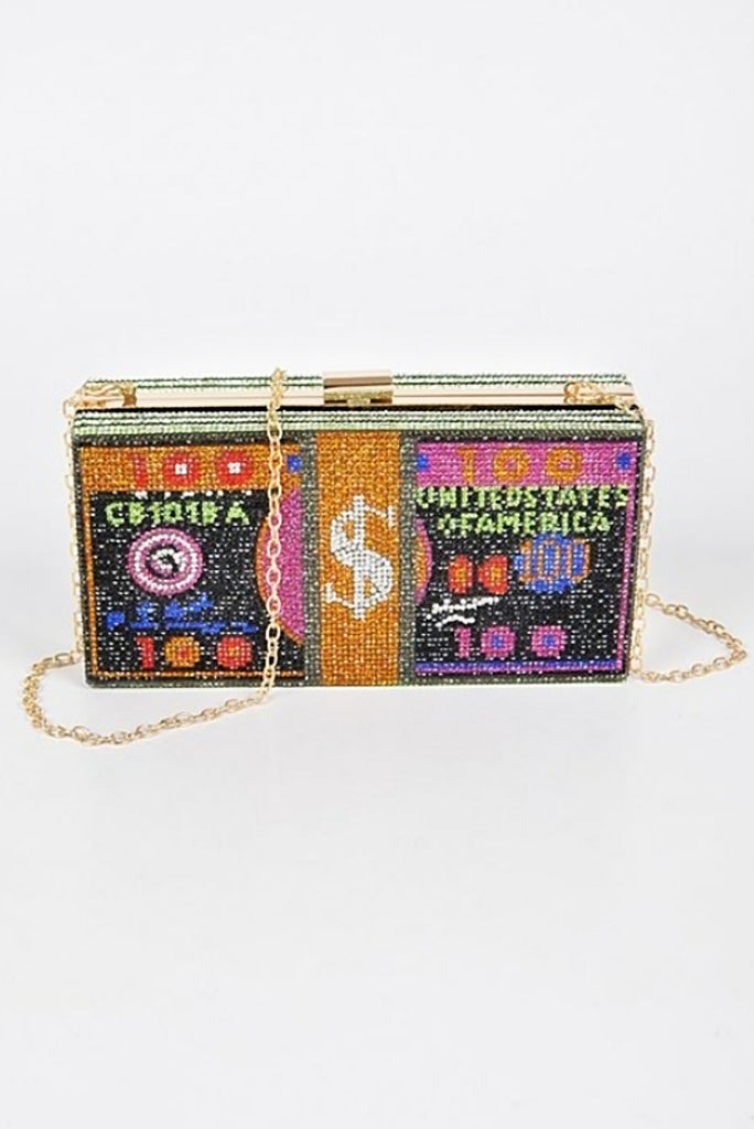 MONEY STONED CLUTCH (COLORED)