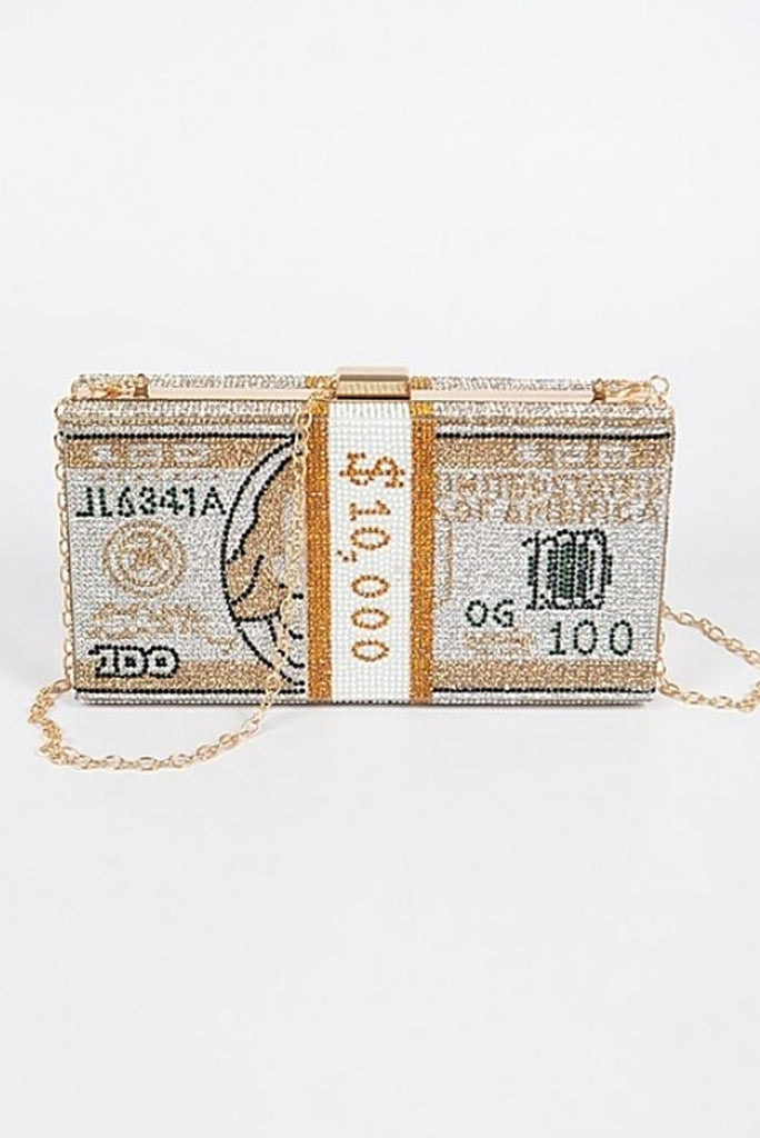 MONEY STONED CLUTCH (GOLD)