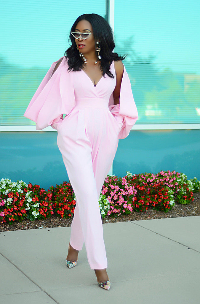 SO EXTRA POWDER PINK JUMPSUIT
