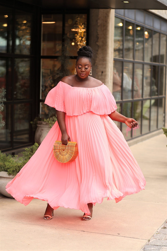 Love creed plus off the shoulder maxi dress