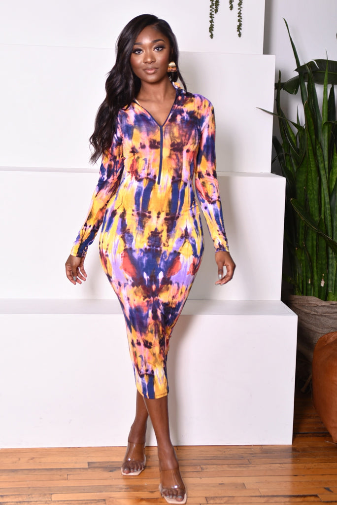MULTI BODYCON DRESS (S-XL)