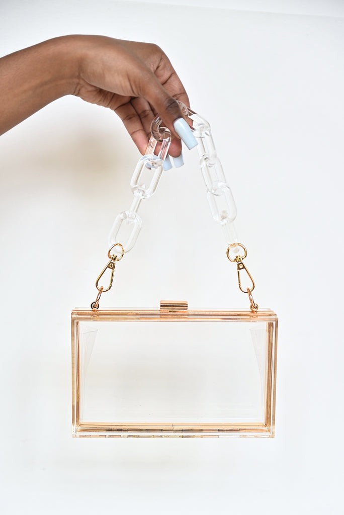 CLEAR ACRYLIC BOX BAG