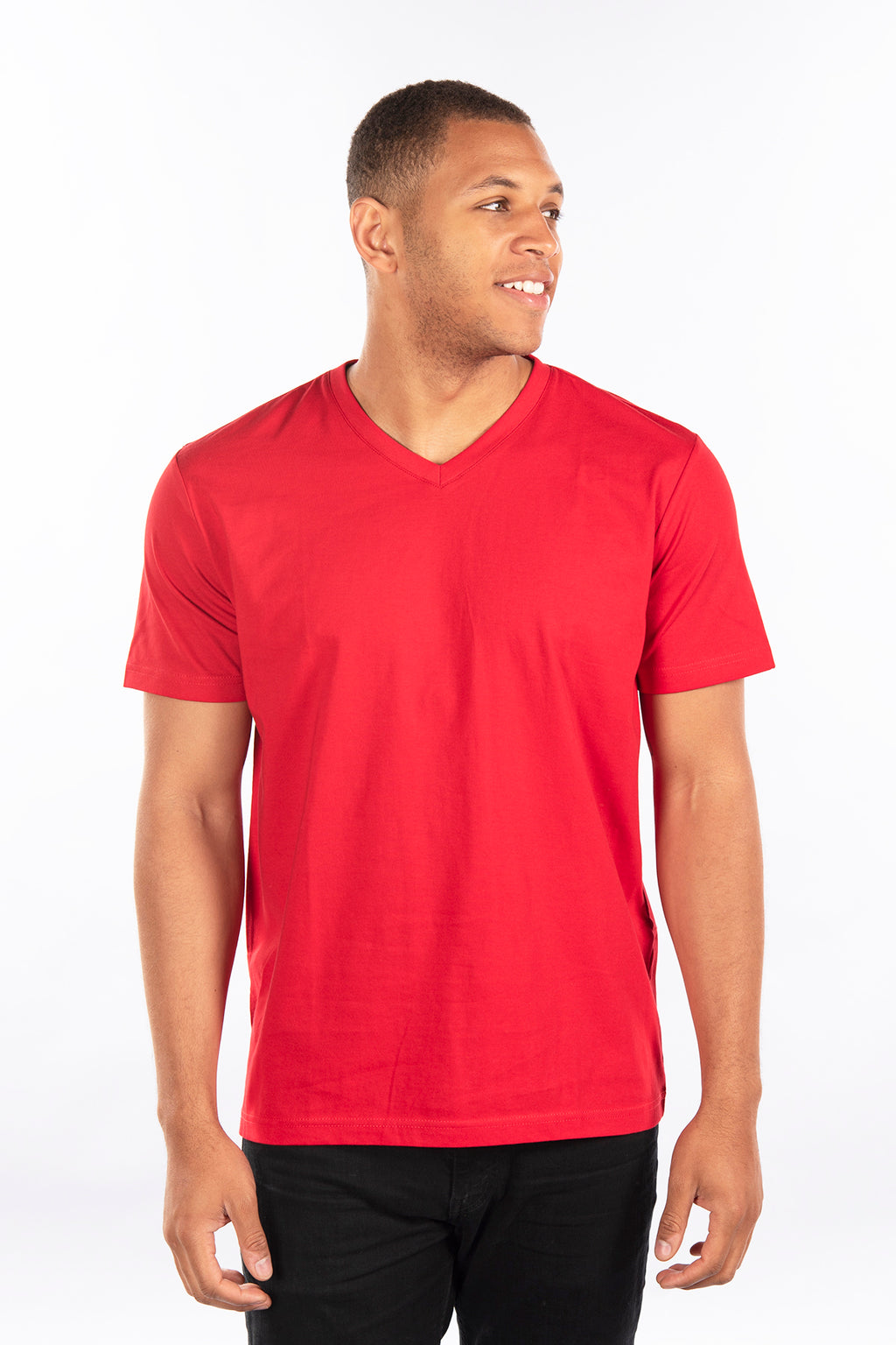 Fitted T-Shirt, V Neck