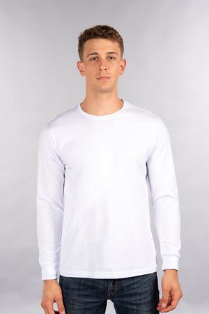 Fitted Long Sleeve Shirt, Crew