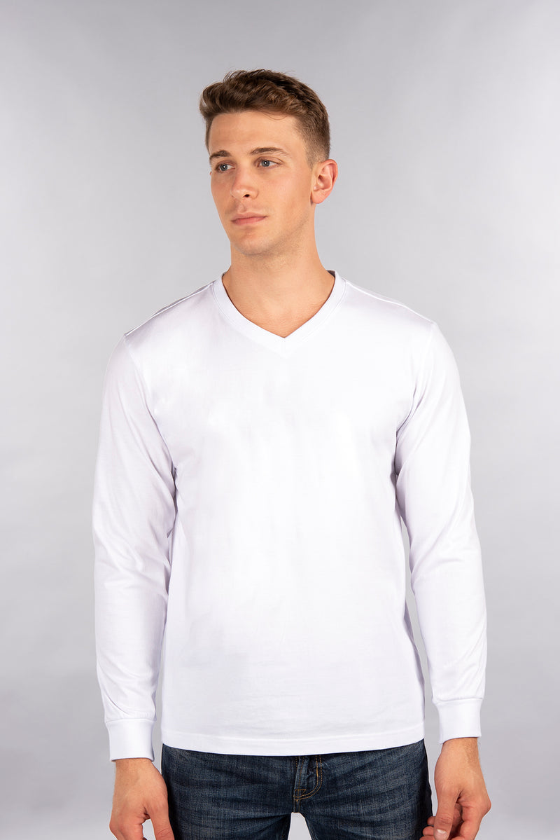 Fitted Long Sleeve Shirt, V
