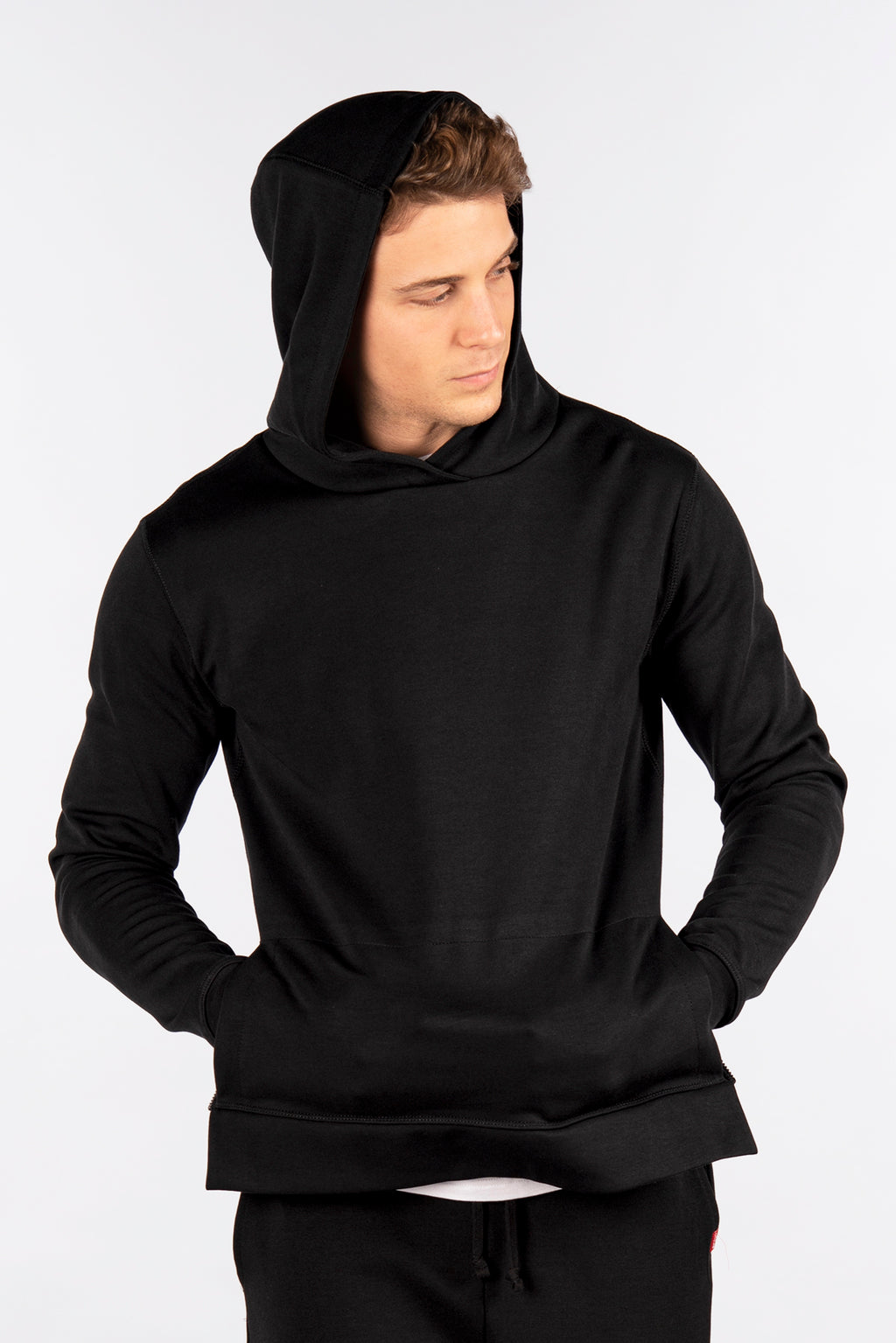 Side-Zip Pullover Hoodie, Performance Fleece