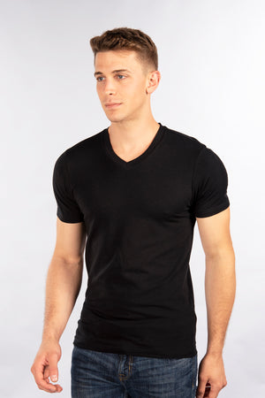 Stretch Slim Fit T-Shirt, V Neck