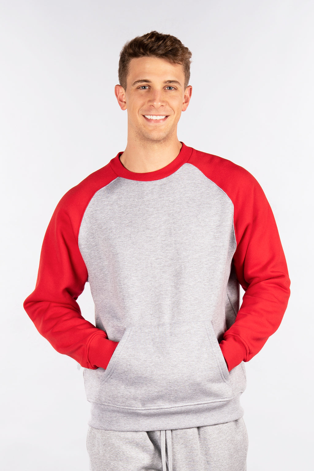 Raglan Fleece Crew Neck