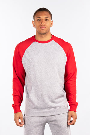 Terry Fleece Raglan Crew