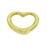 Tiffany & Co. 18k Yellow Gold Elsa Peretti Open Heart Pendant 27 mm »U120