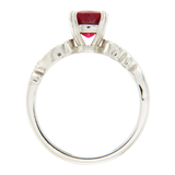 1.63 CT Ruby & 0.26 CT Diamonds in 14K White Gold Engagment Ring