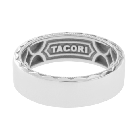 TACORI 18K Gold Sculpted Crescent Men's Wedding 7 mm Band Ring Size 10.5 $$2530