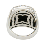 Bvlgari Bulgari 18K White Gold Diamond Black Onyx Piramid Ring Size 7.5 $12000